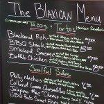 Blaxican menu