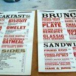 West Egg Menu
