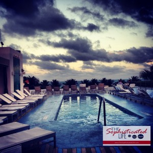 The Hotel of South Beach's rooftop pool