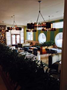 The Hotel's lobby dining area