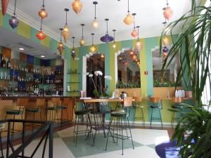 """The Hotel""""s lobby bar area"""