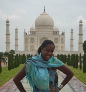 Nicole at the Taj Mahal