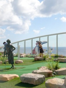 There is a miniature golf course on the ship!