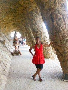 Park Guell. Look behind me-he is real ;)