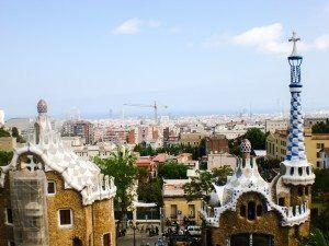 Park Guell. Barcelona City View