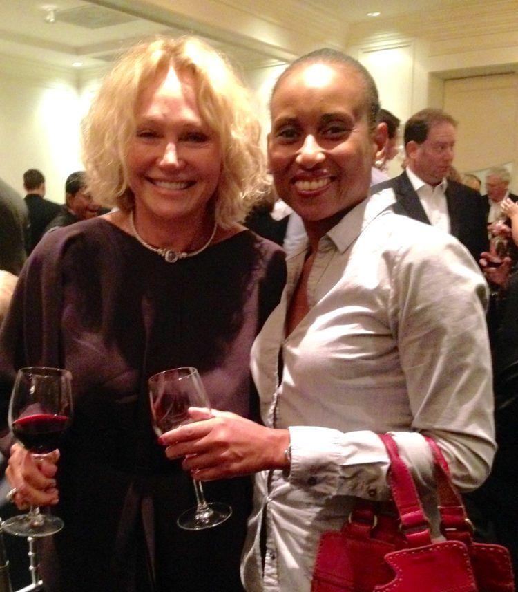With Kathryn Hall at her 2011 Cabernet Sauvignon release party in Atlanta
