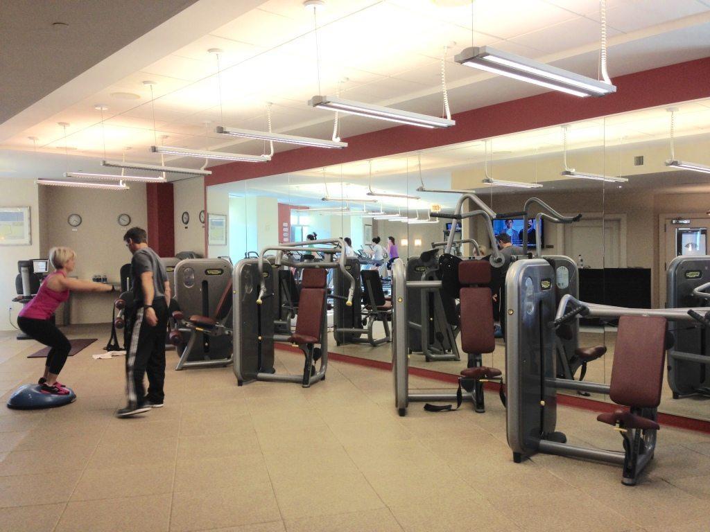 Fitness center at the Spa at Mandarin Oriental