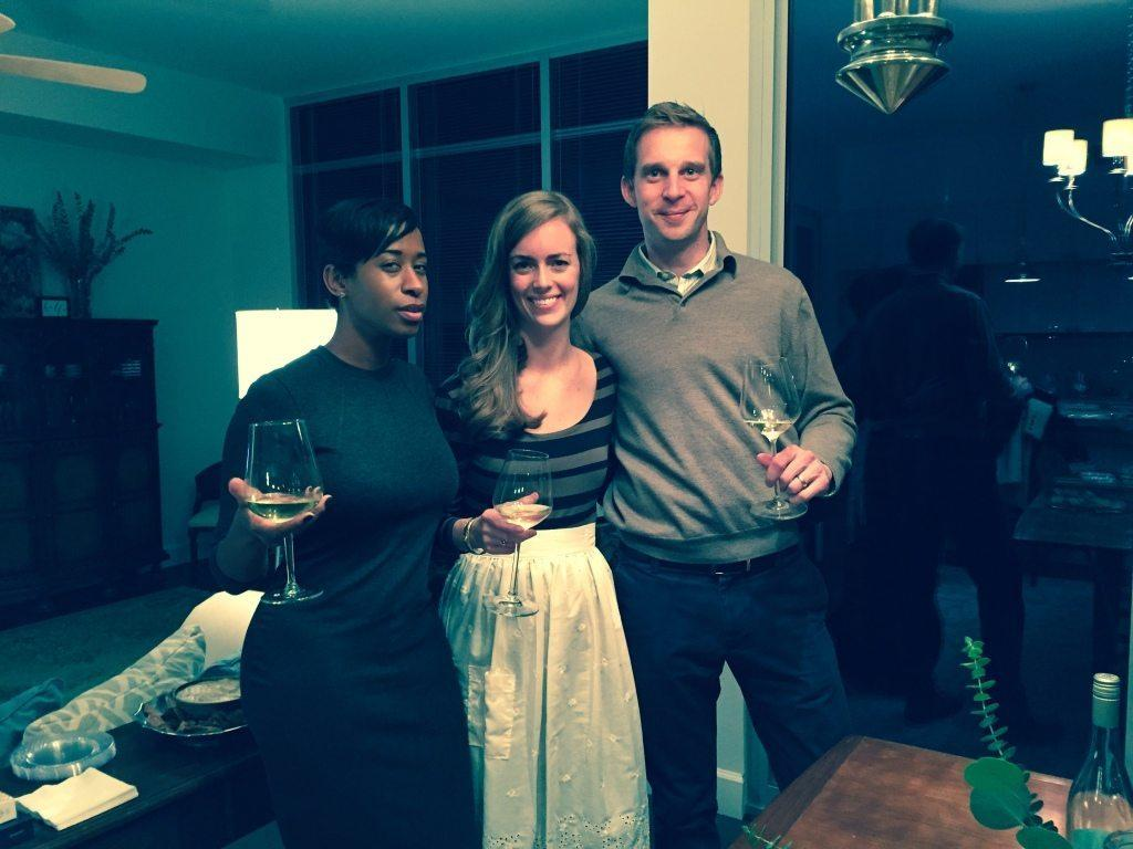 Wine Tasting Hosts-Bea from Hush Dinner Club, Kenan Hill from Kitchen1204 and wine sommelier Tim Willard