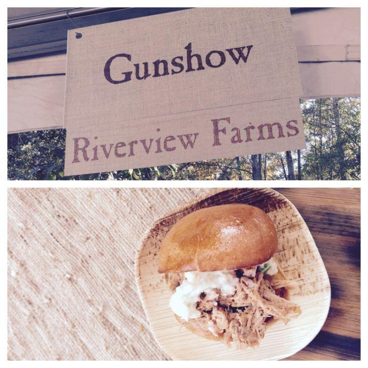 Pulled pork sandwich from the restaurant Gunshow at Afternoon in the Country in Atlanta