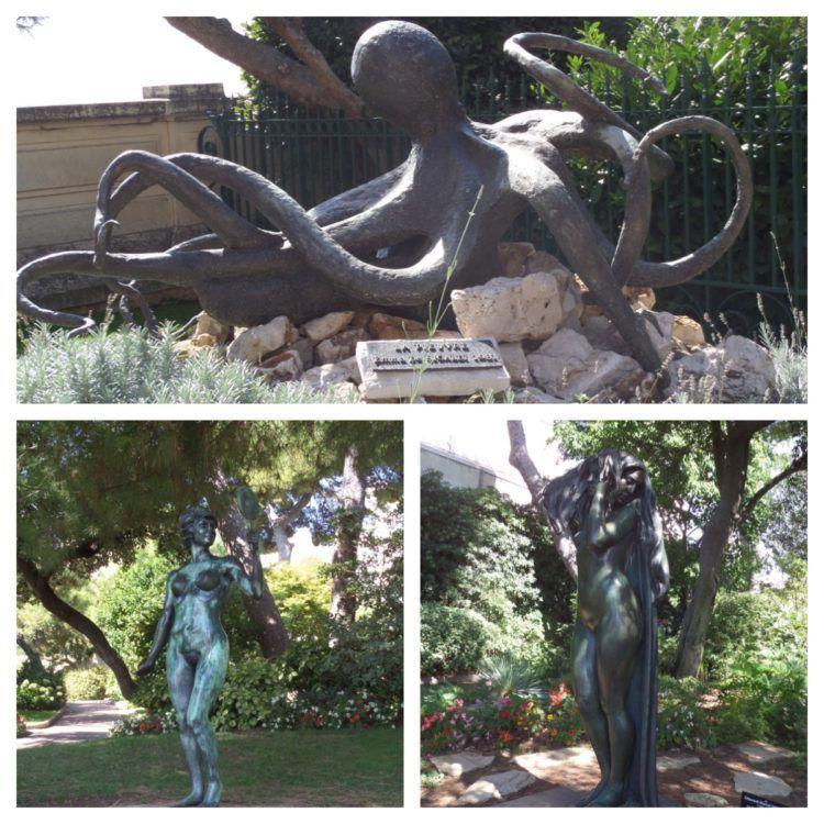 Beautiful Sculptures in Saint Martin Park in Monaco