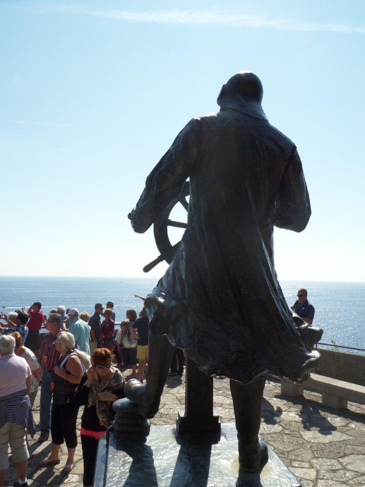 A Statue of Prince Albert the 1st in Monaco