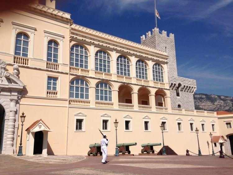 The beautiful castle of Prince Albert in Monaco