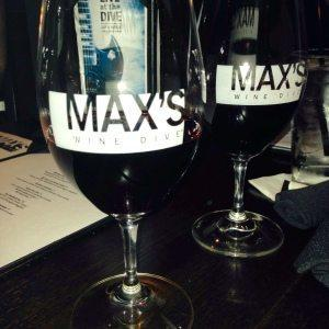 Wine tumblers at Max's Wine Dive in Atlanta!