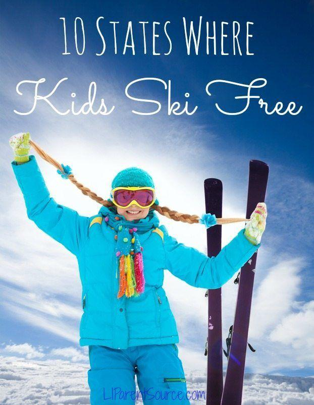 10 States Where Kids Ski Free! Courtesy of Long Island Parent Source.