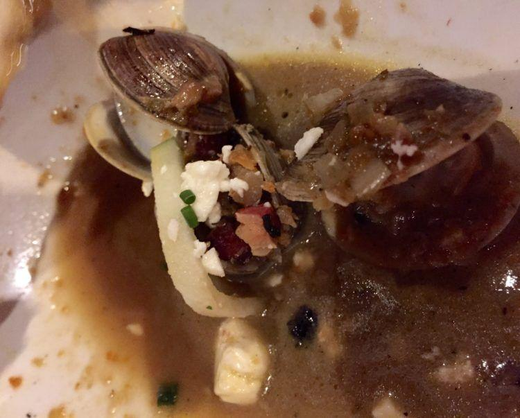 Sapelo Island Clams at Cooks & Soldiers restaurant in Atlanta!