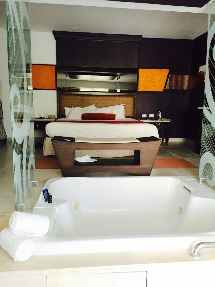 Resort Review: Hard Rock Hotel Punta Cana! King size room with spa tub at the Hard Rock Hotel Punta Cana.