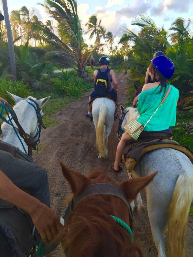 Horseback Riding on the Beach in Punta Cana, Dominican Republic.