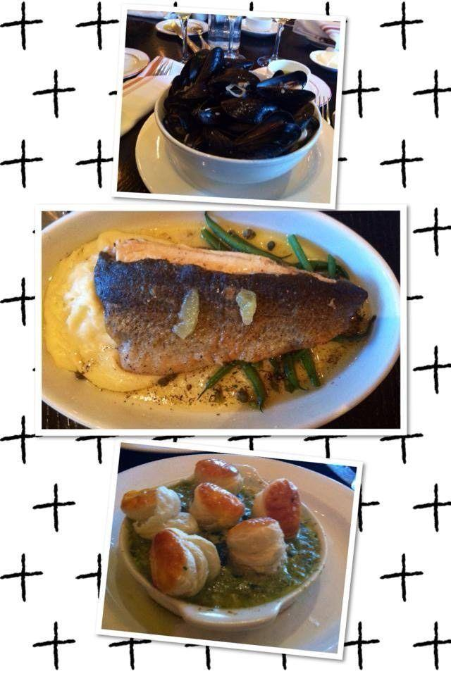 Mussels, trout and escargot at Bistro Niko