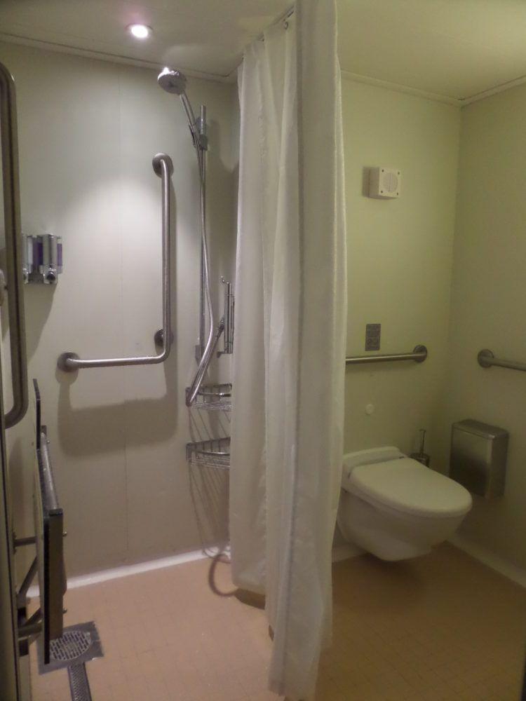 Bathroom on Norwegian Epic cruise ship.