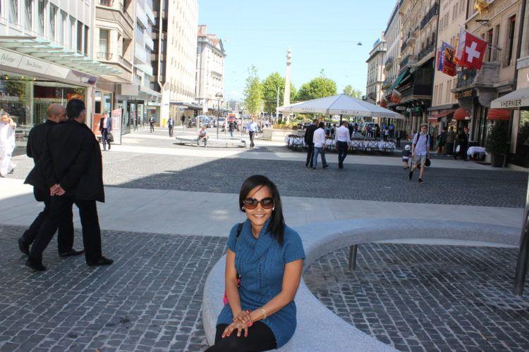 city street in Basal, Switzerland