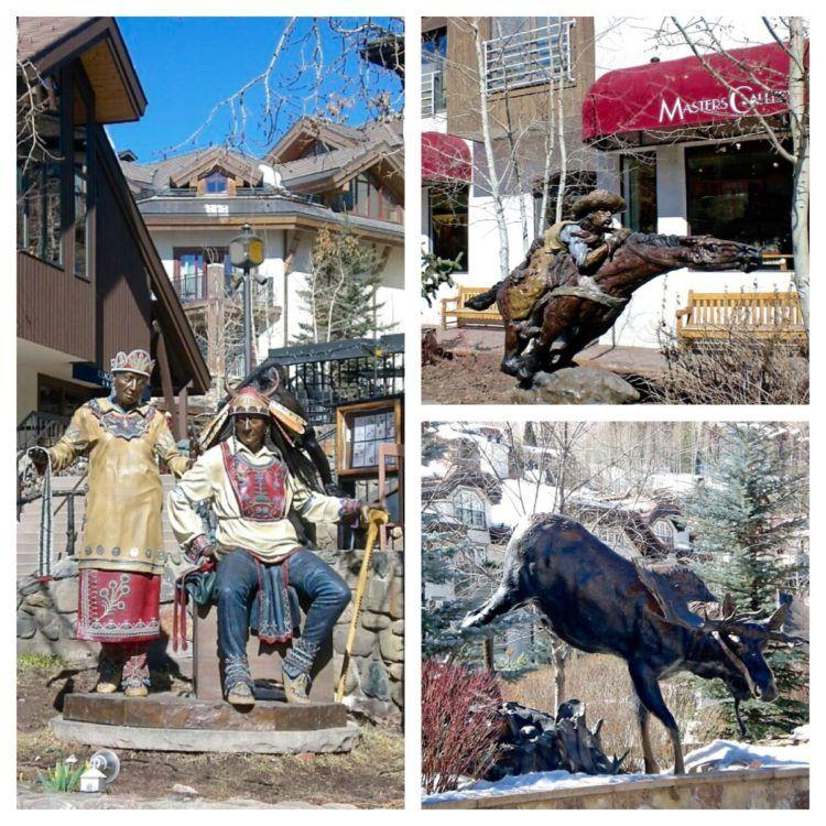Sculptures and statues around Vail Colorado