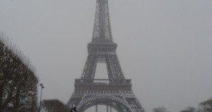 The Eiffel Tower in Paris, France in the winter. Courtesy of Holly Dayz.