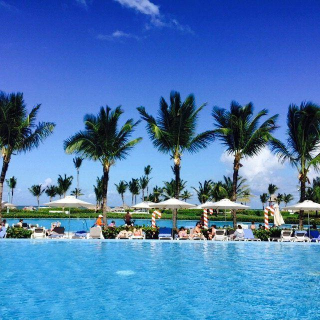 Resort Review:Hard Rock Hotel Punta Cana! The huge main pool area with ocean views at the Hard Rock Hotel Punta Cana!