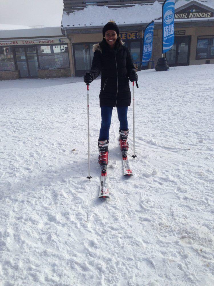 skiing in Geneva, Switzerland