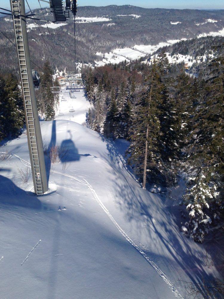 Downhill view in Mont Jura in Geneva Switzerland!