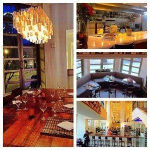 The interior design of Asante Restaurant in Atlanta.