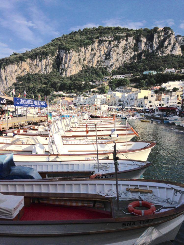 Travel to the Romantic Isle of Capri!One of the Marinas on the Isle of Capri filled with colorful boats!