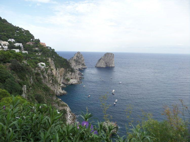 Travel to the Romantic Isle of Capri in the Gulf of Naples, Italy! The Limestone Sea Stacks on Capri Italy!