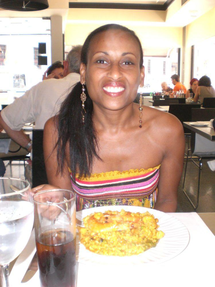 Eating delicious paella in Madrid!