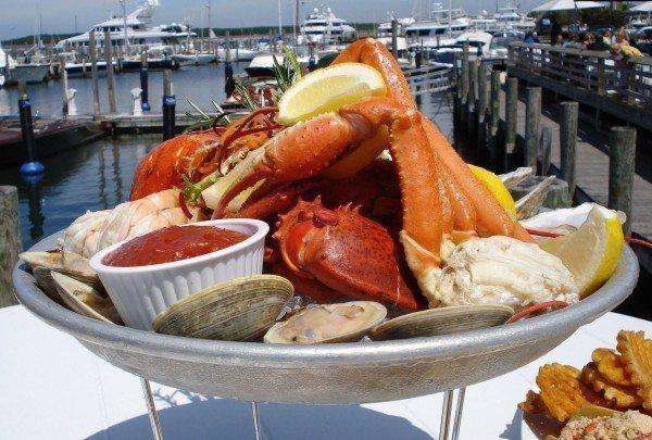African Americans in Sag Harbor. Seafood at B.Smith's Restaurant. Photo courtesy of BSmith.com