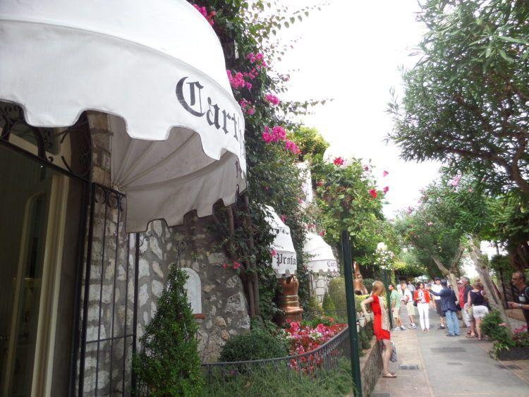Travel to the Romantic Isle of Capri in the Gulf of Naples, Italy! A quaint street on the island!