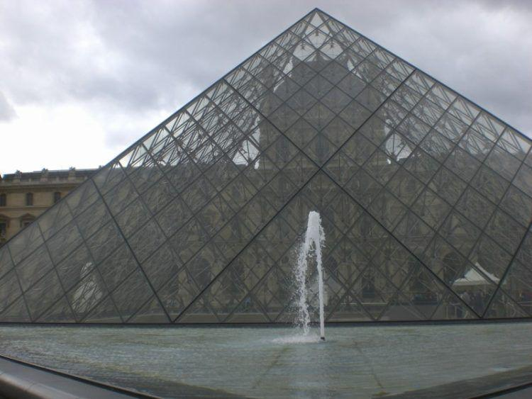 Paris Favorite Sites in the City of Lights. The Louvre Museum and the Louvre Pyramid.