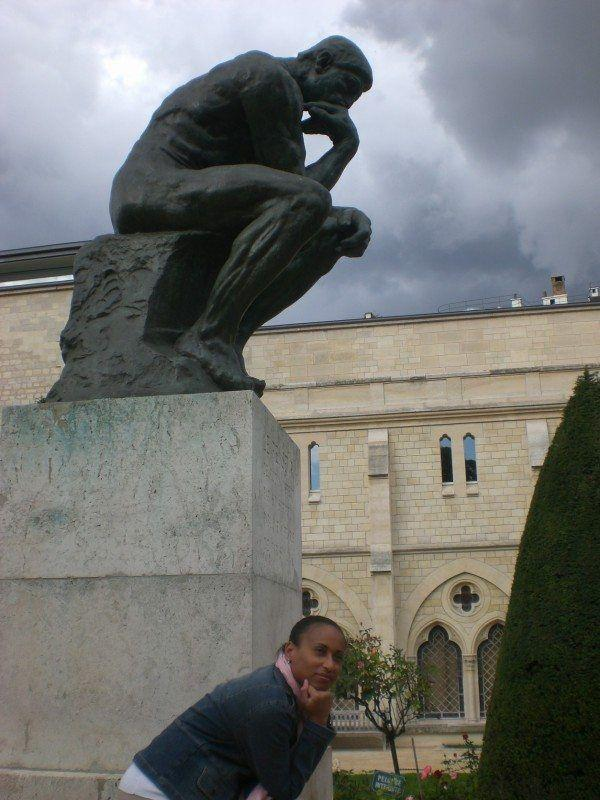 Paris Favorite Sites in the City of Lights. The Thinker Sculpture at the Rodin Museum