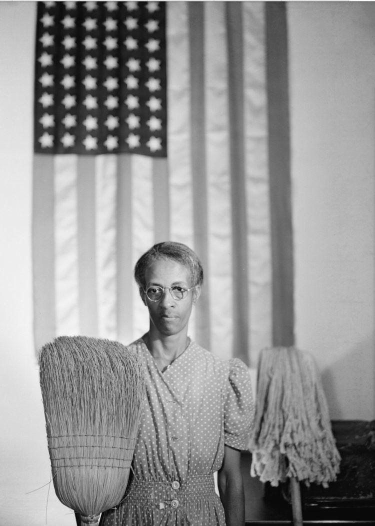 """American Gothic, Washington, D.C."" by Photographer Gordon Parks."