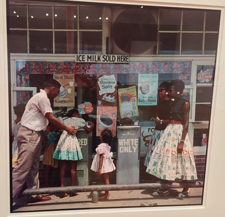 An image of segregation captured by Photographer Gordon Parks and featured in
