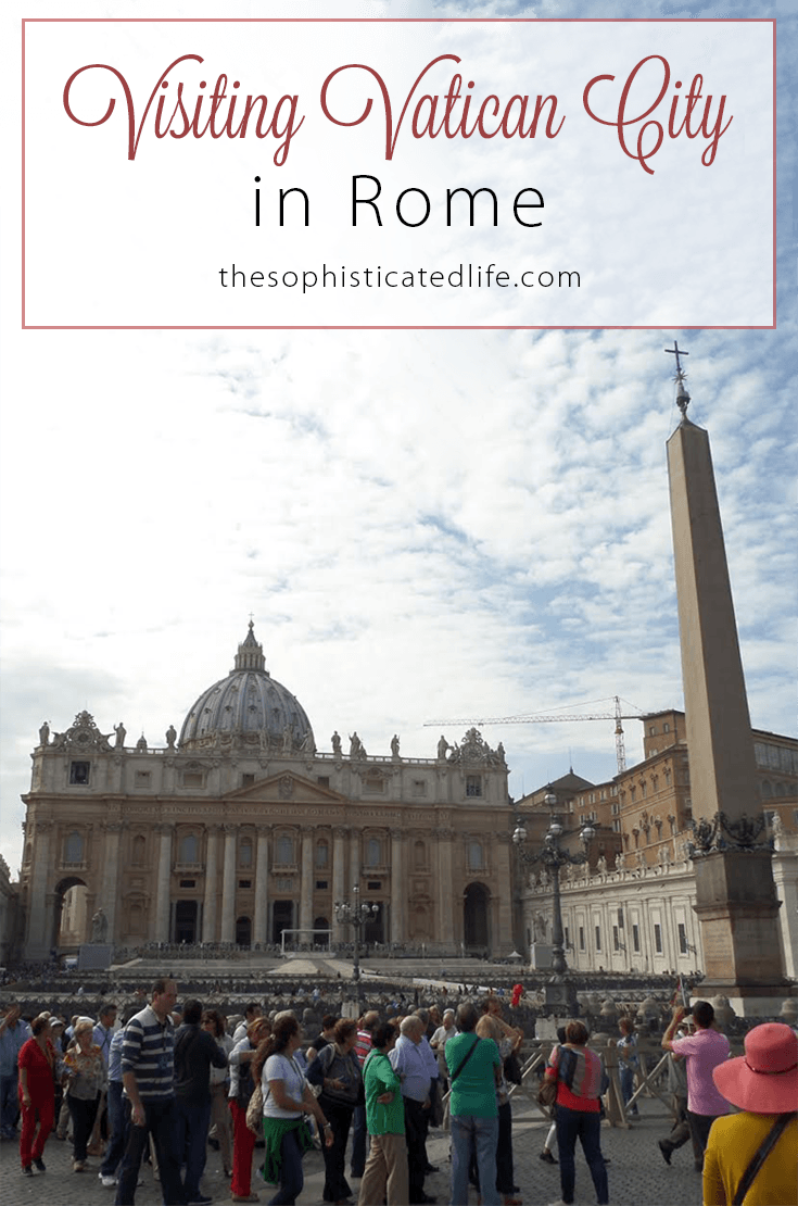 Visiting Vatican City in Rome! Get travel tips and advice on visiting St.Peter's Basilica, The Sistine Chapel and more!