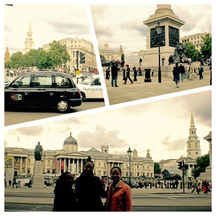 24 hours in London. Trafalgar Square.