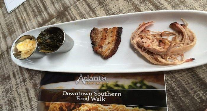 Southern food walk tour in Downtown Atlanta! Visit historic areas in Atlanta while dining on southern food specialties such as fried chicken, BBQ and banana pudding!