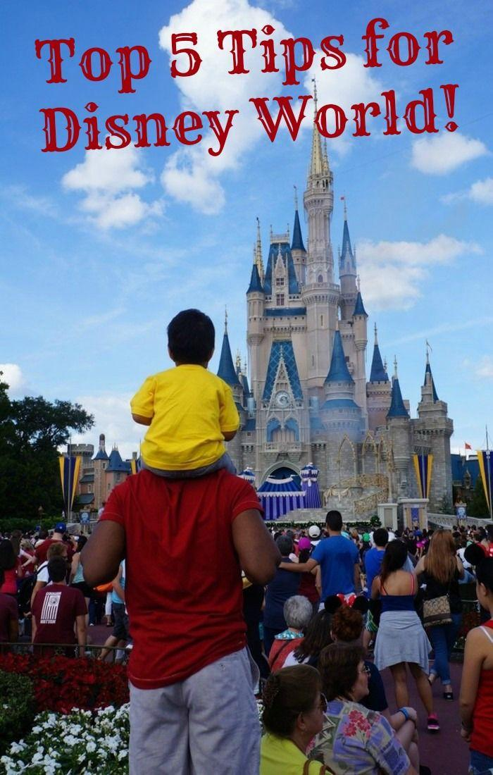 Top 5 Tips for Planning a Disney World Vacation! Advice on Disney resorts, saving money on food and enjoying the Disney parks with young children.