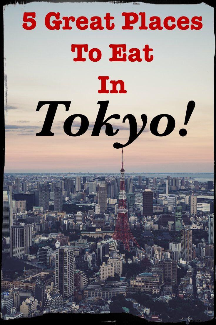 5 Great Places To Eat in Tokyo Japan! A review of 5 unique restaurants in Japan by an ex-pat travel blogger and foodie!