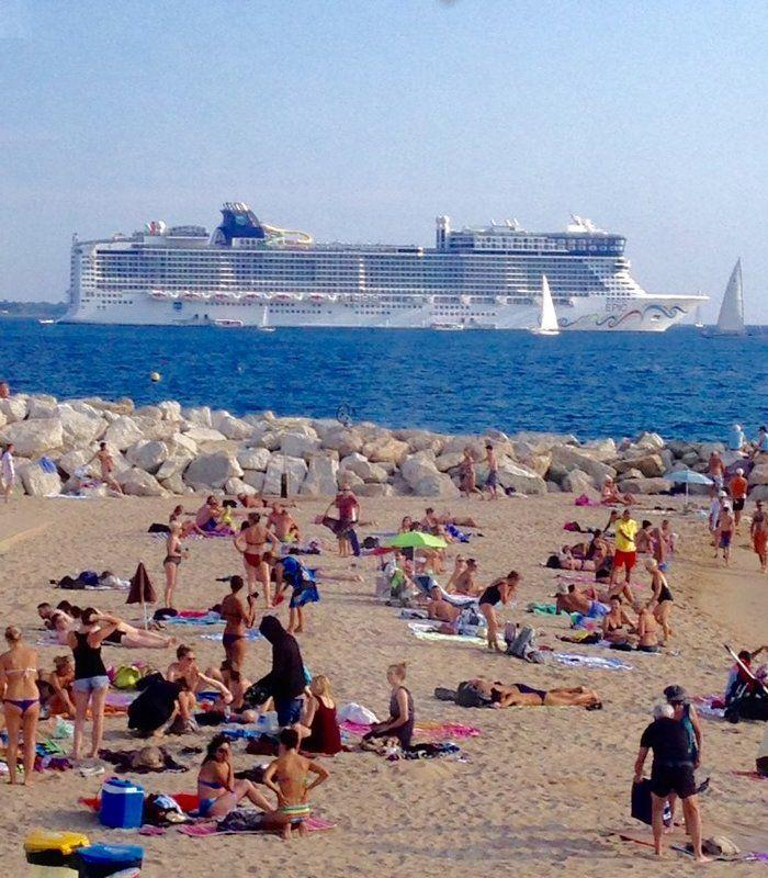 Norwegian Epic docked in Cannes France