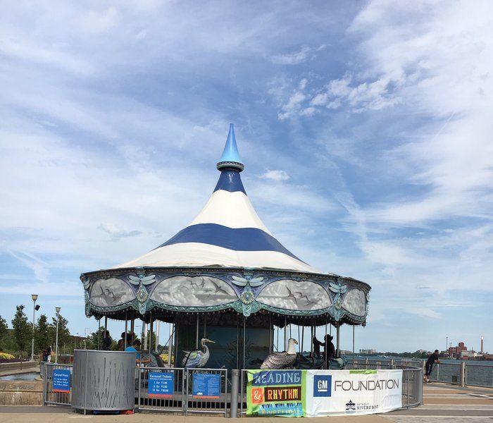 The Carousel at Rivard Park on the Detroit Riverwalk