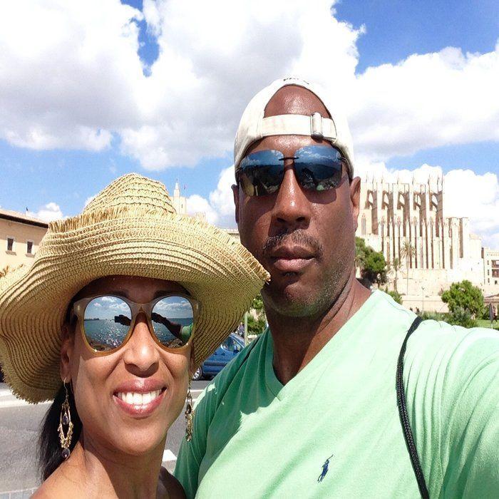 My husband and I in Palma, Majorca
