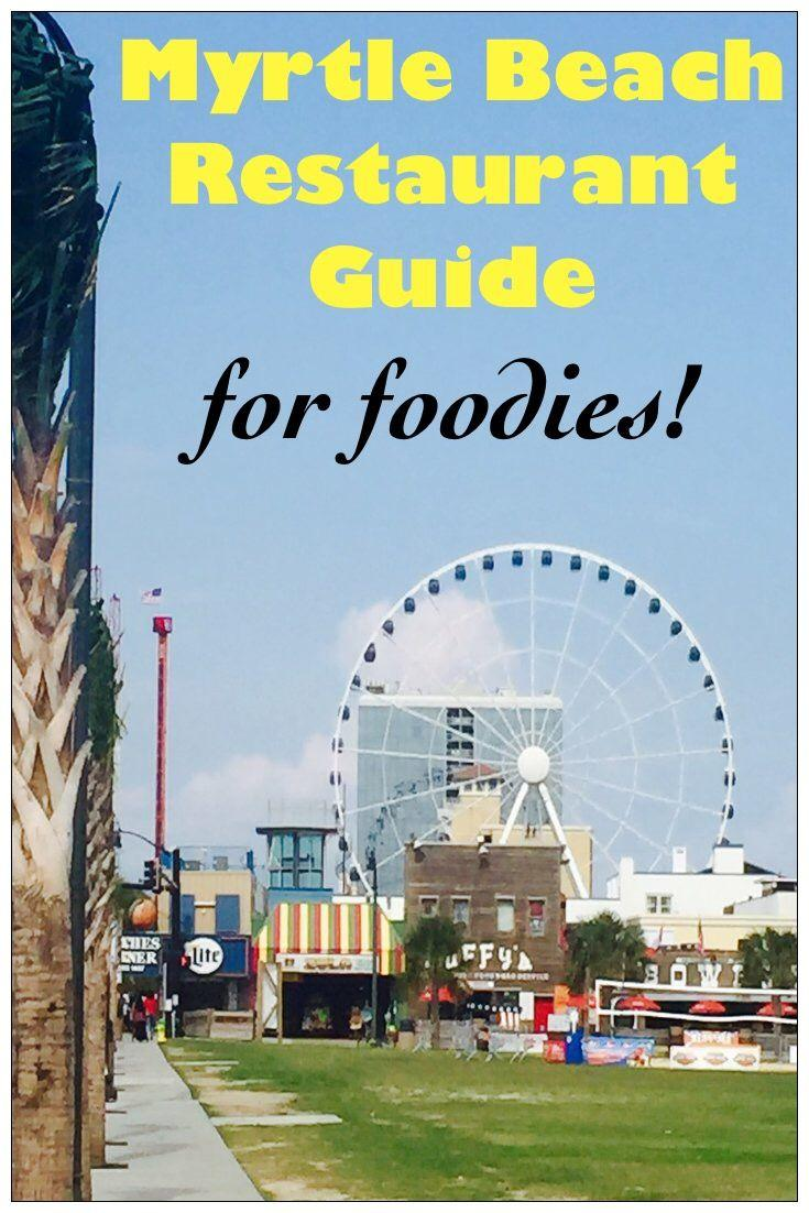 Myrtle Beach Restaurant Guide for Foodies!! A list of great restaurants along the Grand Strand in Myrtle Beach! The places to eat include seafood restaurants, fine dining, steakhouses, a french bistro for brunch and much more!
