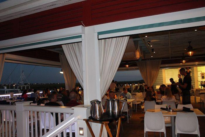 The outdoor dining area of Wicked Tuna