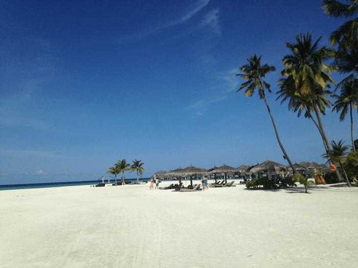 a beach in The Maldives